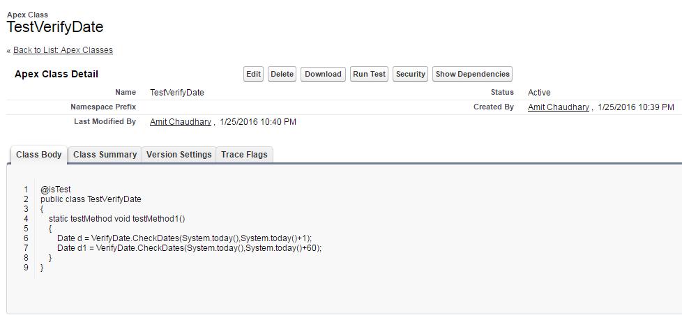 Error  Method not Visible - Salesforce Developer Community