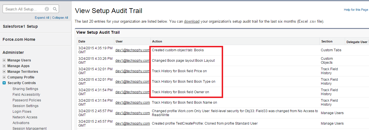 Difference between Setup Audit trail and field history tracking