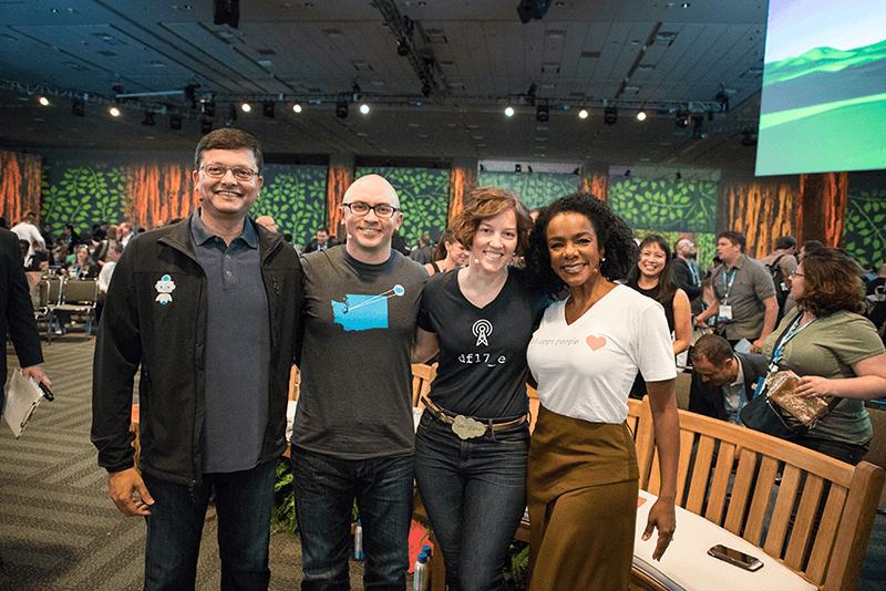 Dreamforce 2017 recap for Salesforce free t shirt